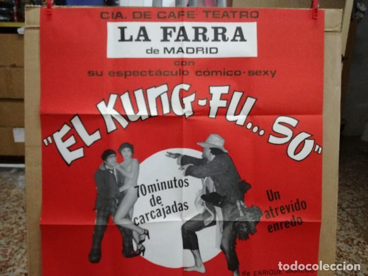 Carteles Espectáculos: CARTEL-EL KUNG-FU..SO.CAFE TEATRO FARRA MADRID.EROTICO-SEXY.RAMON PARDO,PATRICIA UNSUA.95X65 CM - Foto 3 - 101314599