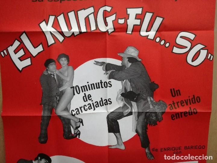 Carteles Espectáculos: CARTEL-EL KUNG-FU..SO.CAFE TEATRO FARRA MADRID.EROTICO-SEXY.RAMON PARDO,PATRICIA UNSUA.95X65 CM - Foto 4 - 101314599
