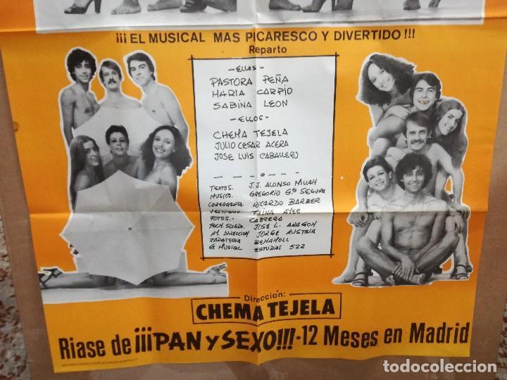 Carteles Espectáculos: CARTEL DE LA COMEDIA PAN Y SEXO.95X65CM PASTORA PEÑA,MARIA CARPIO,SABINA LEON..MUSICAL EROTICO COMIC - Foto 2 - 101315571