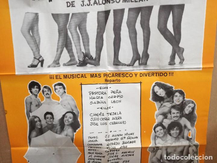 Carteles Espectáculos: CARTEL DE LA COMEDIA PAN Y SEXO.95X65CM PASTORA PEÑA,MARIA CARPIO,SABINA LEON..MUSICAL EROTICO COMIC - Foto 4 - 101315571