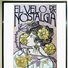 Carteles Espectáculos: CARTEL EXPOSICION DE GLESS NICOLÁS -EL VELO DE LA NOSTALGIA EN LA ALHONDIGA SEGOVIA EN 1998. 69X36CM. Lote 102985655