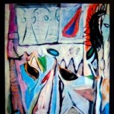 Carteles Espectáculos: CARTEL DE EXPOSICION DE - BRAM VAN VELDE - EN EL IVAM VALENCIA 1993 TAMAÑO 75X50 CMS. Lote 104654715