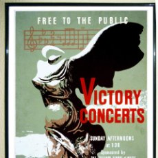 Carteles Espectáculos: BONITO POSTER VINTAGE - VICTORY CONCERTS - AT THE METROPOLITAN MUSEUM OF ART. TAMAÑO 70X50 CMS. Lote 105377383