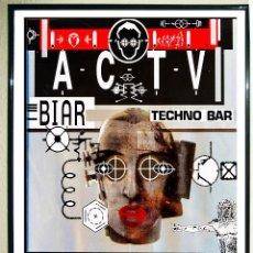 Affissi Spettacoli: CARTEL DE DISCOTECA - ACTV - TECNO BAR . AÑOS 90 . TAMAÑO 70X50 CMS. Lote 233189870