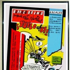 Affiches Spectacles: CARTEL DE DISCOTECA - BARRACA - FIESTA NAVIDAD - VUELO AL 87 -TAMAÑO 69X50 CMS. Lote 107291539