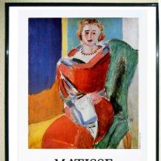 Carteles Espectáculos: CARTEL EXPOSICION - HENRÍ MATISSE -MUJER SENTADA - EN LA GALERÍA ADRIEN MAEGHT-EN 1986 TAMAÑO 60X40 . Lote 108125947