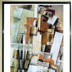 Carteles Espectáculos: CARTEL EXPOSICIÓN - BRAQUE GEORGES -- LA GUITARRE -EN LA FONDATION MAEGHT -EN 1980 TAMAÑO 86,5 X 38 . Lote 108282411