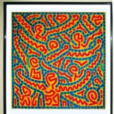 Carteles Espectáculos: CARTEL DE LA EXPOSICIÓN - KEITH HARING - ARTE POP DEL AÑO 1998. SAN FRANCISCO TAMAÑO 93 X 67,5CMS. Lote 246607695