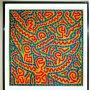 CARTEL DE LA EXPOSICIÓN - KEITH HARING - ARTE POP DEL AÑO 1998. SAN FRANCISCO TAMAÑO 93 X 67,5CMS