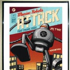 Carteles Espectáculos: POSTER ROBOT - SPACES FOR LITTLE PEOPLE - VINTAGE. TAMAÑO 45 X 32 EN CARTULINA ALTA CALIDAD... Lote 109508443