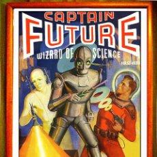 Carteles Espectáculos: POSTER VINTAGE RETRO DE - CAPITAIN FUTURE - NUEVO TAMAÑO 45,2 X 31,5 CMS. Lote 119247311