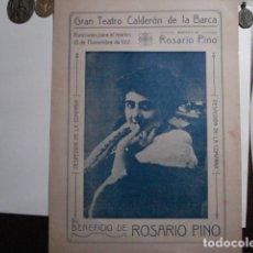 Carteles Espectáculos: VALLADOLID TEATRO CALDERON ROSARIO PINO DON JUAN TENORIO JOSE ZORRILLA AÑO 1917. Lote 110938319