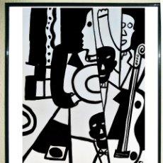 Carteles Espectáculos: CARTEL EXPOSICION DE - LEGER FERNAND - JAZZ LE NOIR EST UNE COULEUR -EN LA FONDATION MAEGHT 2006. . Lote 111337131