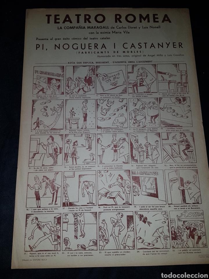 ANTIGUO CARTEL TEATRO ROMEA COMPAÑIA MARAGALL CATALUÑA (Coleccionismo - Carteles Gran Formato - Carteles Circo, Magia y Espectáculos)