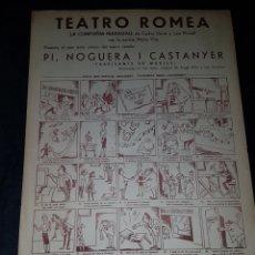 Carteles Espectáculos: ANTIGUO CARTEL TEATRO ROMEA COMPAÑIA MARAGALL CATALUÑA. Lote 111920199