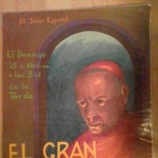 Carteles Espectáculos: EL SOLAR ESPAÑOL,BURDEOS. REPRESENTACIÓN TEATRAL EL GRAN CARDENAL. Lote 112372135