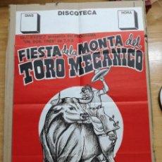 Carteles Espectáculos: CARTEL DEL ESPECTACULO TORO MECANICO.ESPECTACULOS GUTIERREZ. Lote 112963739