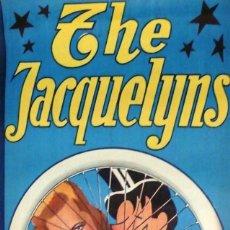 Carteles Espectáculos: CARTEL DE CIRCO - THE JACQUELYNS - 100 X 34 CM - GRÁFICAS VIOR, BARCELONA - EXCELENTE ESTADO-CA.1930. Lote 113600615