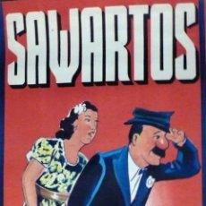 Carteles Espectáculos: CARTEL DE CIRCO - SAWARTOS - 100 X 34 CM - GRÁFICAS VIOR, BARCELONA - EXCELENTE ESTADO-CA.1930. Lote 113600799