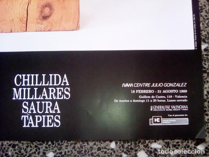 Carteles Espectáculos: CARTEL DE EXPOSICION-CHILLIDA, MILLARES, SAURA Y TAPIES-EN IVAM.VALENCIA 1989 50X70 CMS - Foto 2 - 114593303