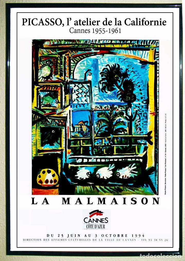 PABLO PICASSO - CARTEL ORIGINAL - EXPOSICIÓN L´ATELIER DE LA CALIFORNIE - EN 1994. 60X40CMS (Coleccionismo - Carteles Gran Formato - Carteles Circo, Magia y Espectáculos)