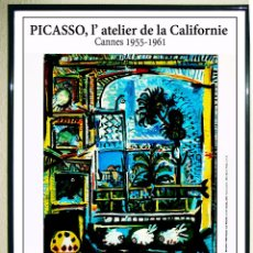 Carteles Espectáculos: PABLO PICASSO - CARTEL ORIGINAL - EXPOSICIÓN L´ATELIER DE LA CALIFORNIE - EN 1994. 60X40CMS. Lote 114593615