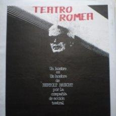 Carteles Espectáculos: TEATRO ROMEA.. BERTOLT BRECHT. COMPAÑÍA DE ACCIÓN TEATRAL. BARCELONA. Lote 114770835