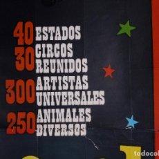Carteles Espectáculos: CARMEN DEL TEIDE, FESTIVAL MUNDIAL DEL CIRCO 1967. Lote 115470671