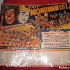 Carteles Espectáculos: CARTEL ORIGINAL CIRCO MONUMENTAL AÑO 1965 - ILUSTRADO POR ALBERTO PERIS - GRAN FORMATO.. Lote 115510315