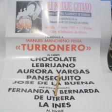 Carteles Espectáculos: XLI POTAJE GITANO HOMENAJE TURRONERO-AL CANTE CHOCOLATE-LEBRIJANO-PANSEQUITO.UTRERA.SEVILLA 1997. Lote 116301231