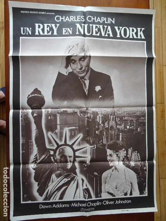 CINE, CHARLES CHAPLÍN, UN REY EN NEW YORK, 100 X 70 CM APROX (Coleccionismo - Carteles Gran Formato - Carteles Circo, Magia y Espectáculos)