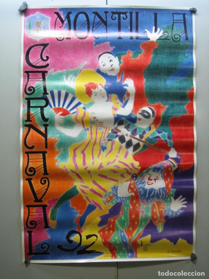CARTEL CARNAVAL MONTILLA 1992. MEDIDAS 60X41 CM (Coleccionismo - Carteles Gran Formato - Carteles Circo, Magia y Espectáculos)