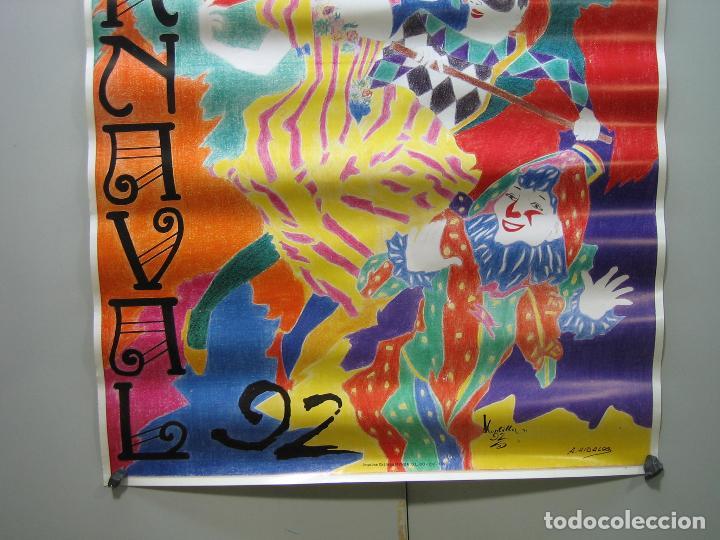 Carteles Espectáculos: Cartel carnaval Montilla 1992. Medidas 60x41 cm - Foto 3 - 116756779