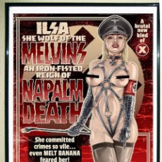 Carteles Espectáculos: POSTER FOR THE UPCOMING MELVINS-NAPALM DEATH-MELT BANANA -SAVAGE IMPERIAL DEATH MARCH TOUR 45X32 CMS. Lote 176701053