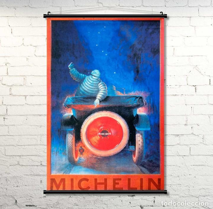 GRAN CARTEL DE TELA MICHELÍN. 90X60CM. NUEVO (Coleccionismo - Carteles Gran Formato - Carteles Circo, Magia y Espectáculos)