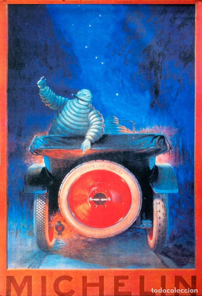 Carteles Espectáculos: GRAN CARTEL DE TELA MICHELÍN. 90x60CM. NUEVO - Foto 2 - 118772687