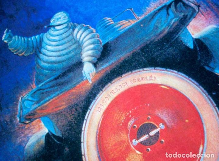 Carteles Espectáculos: GRAN CARTEL DE TELA MICHELÍN. 90x60CM. NUEVO - Foto 3 - 118772687