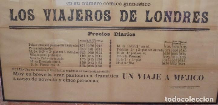 Carteles Espectáculos: CADIZ. TEATRO PRINCIPAL. CIRCO. GRAN COMPAÑIA ECUESTRE. MICAELA R. DE ALEGRIA. 1903. VER. 131 X 64CM - Foto 6 - 118883071