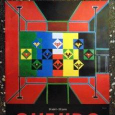 Carteles Espectáculos: CARTEL EXPOSICIÓN DE - QUEJIDO 1964-79 1991-97 - 33 AÑOS EN RESISTENCIA IVAM.TAMAÑO100X69 CMS. Lote 120351191