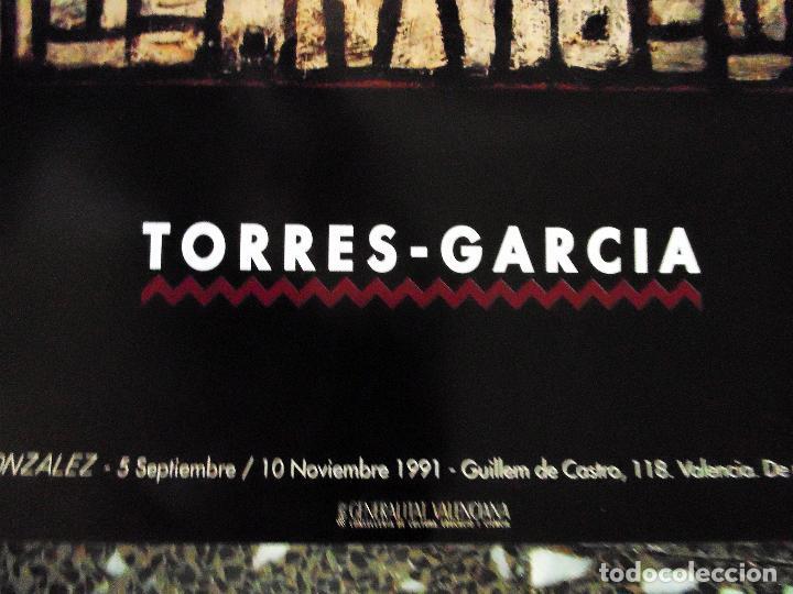 Carteles Espectáculos: CARTEL EXPOSICION DE - TORRES GARCIA - EN IVAM.VALENCIA 1991.TAMAÑO 70X50 CMS - Foto 3 - 120352607