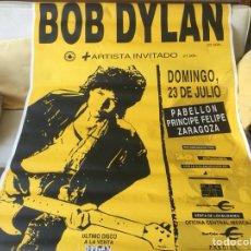 Carteles Espectáculos: BOB DYLAN, CONCIERTO EN ZARAGOZA. Lote 120360764