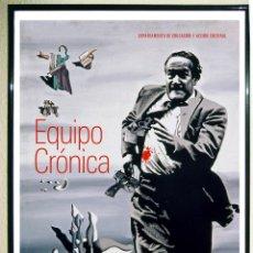 Carteles Espectáculos: CARTEL DE LA EXPOSICION - EQUIPO CRONICA - EN MUSEO BELLAS ARTES DE BILBAO 2014 TAMAÑO 61 X 43 CMS. Lote 126297775