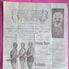 Carteles Espectáculos: CARTEL CIRCO MARAVILLAS, SEGORBE, CASTELLON, HERMANOS RIQUELME, HERMANOS ROMERO, C30. Lote 120927715