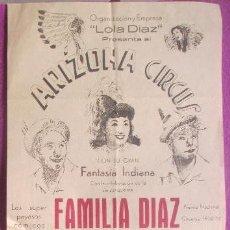 Carteles Espectáculos: CARTEL CIRCO ARIZONA CIRCUS, FAMILIA DIAZ, HENRY-TONY, C36. Lote 121044491