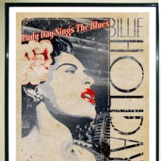 Carteles Espectáculos: POSTER VINTAGE - BILLIE HOLIDAY -LADY DAY SINGS THE BLUES LIVE AT CARNEGIE HALL.1948.TAMA48X33,3 CMS. Lote 205315322