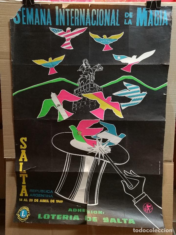 Carteles Espectáculos: CARTEL MAGIA , SEMANA INTERNACIONAL de la MAGIA , 1969 , SALTA --ARGENTINA-GRAN TAMAÑO - Foto 3 - 122467443