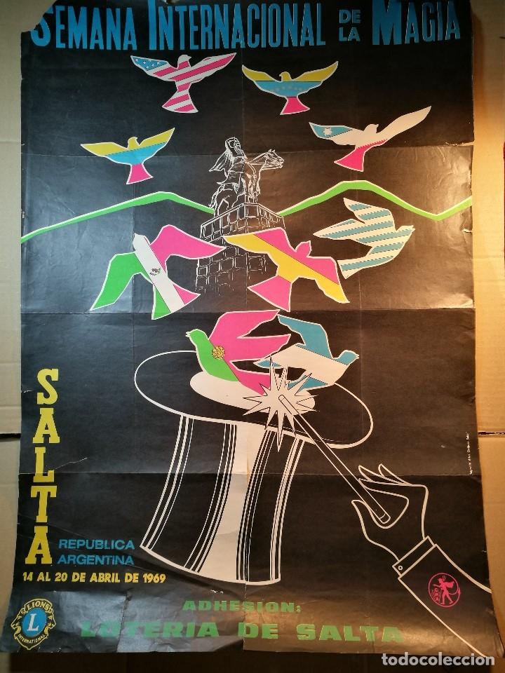 Carteles Espectáculos: CARTEL MAGIA , SEMANA INTERNACIONAL de la MAGIA , 1969 , SALTA --ARGENTINA-GRAN TAMAÑO - Foto 4 - 122467443