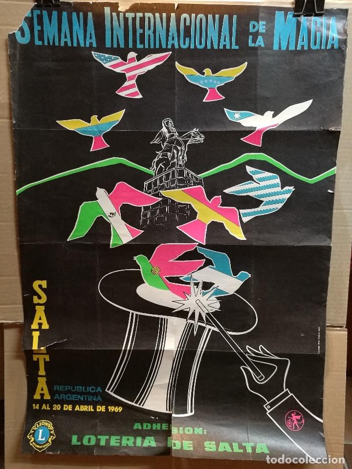 Carteles Espectáculos: CARTEL MAGIA , SEMANA INTERNACIONAL de la MAGIA , 1969 , SALTA --ARGENTINA-GRAN TAMAÑO - Foto 5 - 122467443