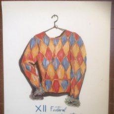 Carteles Espectáculos: XII FESTIVAL INTERNACIONAL DE TEATRE DE SITGES. 1979. CARTEL. Lote 122967887