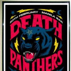 Carteles Espectáculos: POSTER DE - DEATH PANTHERS' - EP LAUNCH POR - IAN JEPSON -TAMAÑO 68X48 CMS. Lote 123394755